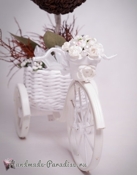 Кашпо из газет, велосипед из проволоки и кофейный топиарий (3)