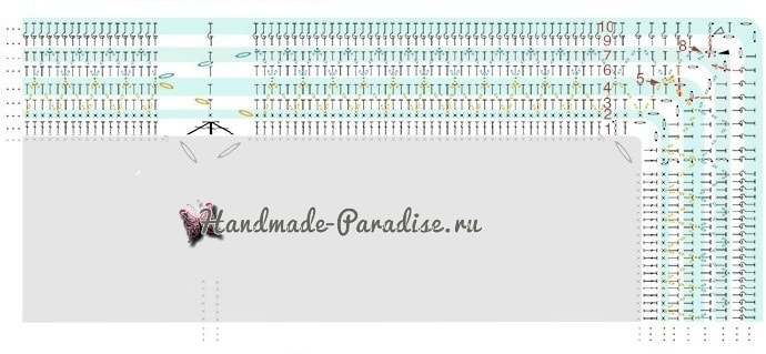 Плед крючком мотивами «мандала». Схемы (8)