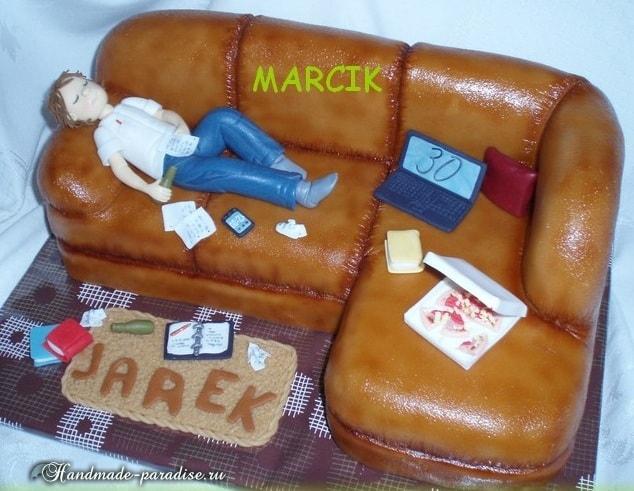 Подарок для мужчины - 3D торт из мастики (3)