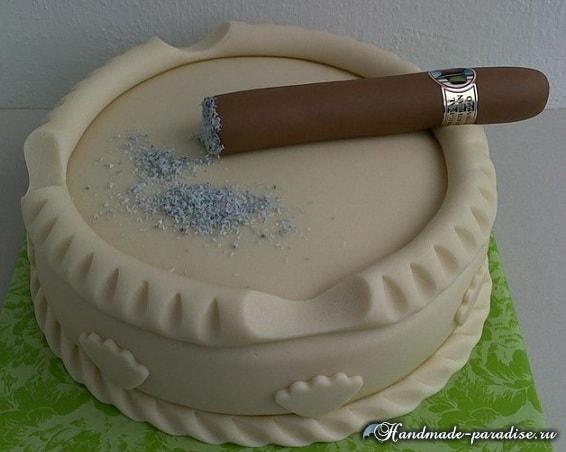 Подарок для мужчины - 3D торт из мастики (5)