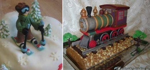 Подарок мужу - торт из мастики. 40 идей (1)