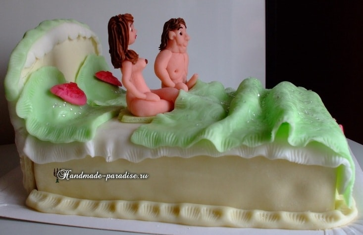 Подарок мужу - торт из мастики. 40 идей (2)