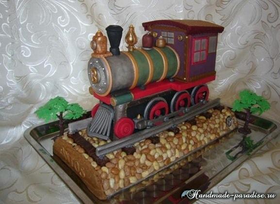 Подарок мужу - торт из мастики. 40 идей (3)