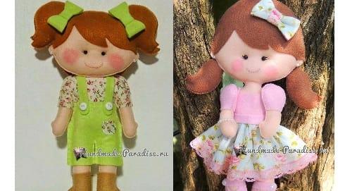 Самые красивые куколки из фетра. Шаблоны (1)