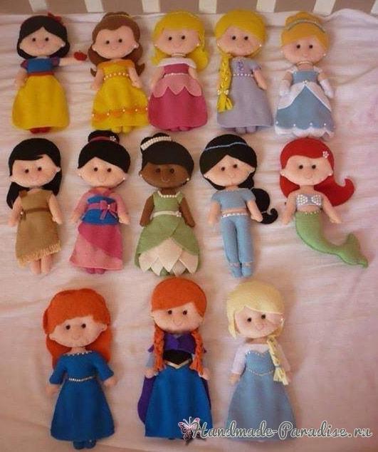 Самые красивые куколки из фетра. Шаблоны (4)