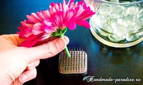 Цветы в стакане для украшения праздничного стола (5)