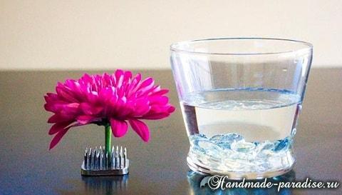 Цветы в стакане для украшения праздничного стола (6)