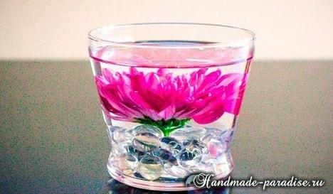 Цветы в стакане для украшения праздничного стола (7)