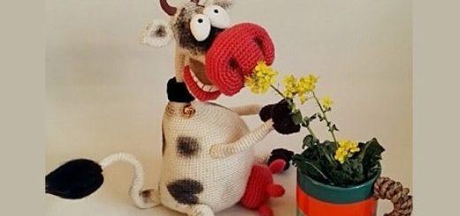 Веселая корова крючком. Амигуруми (1)