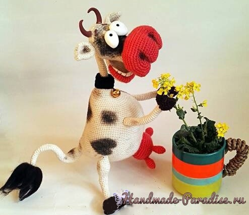 Веселая корова крючком. Амигуруми (4)