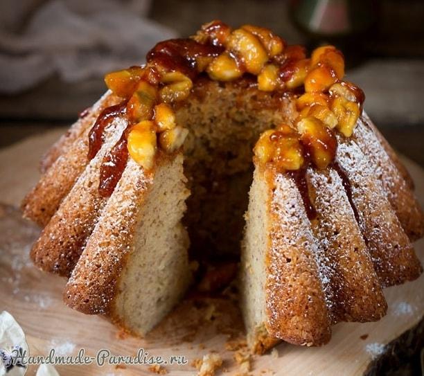 Банановая ромовая баба. Рецепт кекса (3)