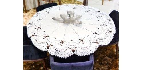 Большая салфетка крючком для круглого столика (1)