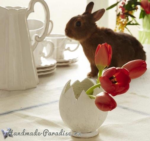 Декоративная вазочка «Пасхальное яйцо» из кокоса (2)