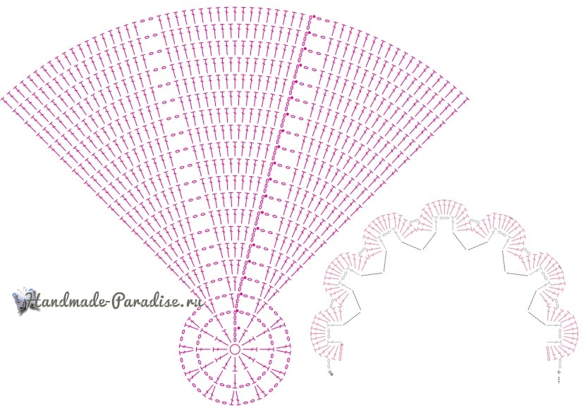 Коврик «Розовый кварц» крючком из пряжи травка (1)