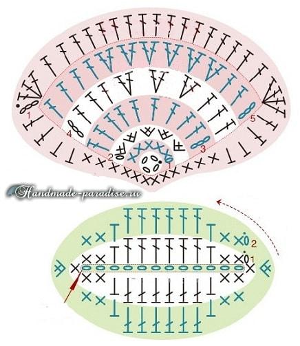 Красные МАКИ крючком. Схемы вязания (8)