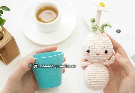 Луковичные цветы - куколки амигуруми (8)