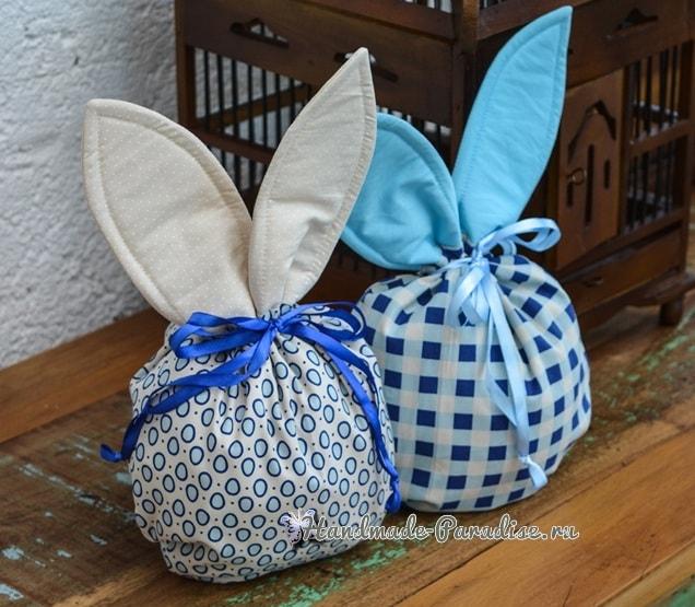 Мешочек с ушками для пасхальных подарков (3)