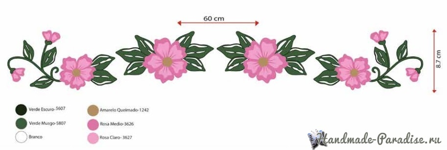 Ковровая вышивка для украшения полотенца (1)