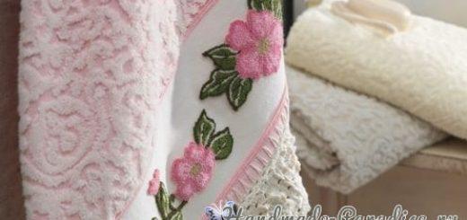 Ковровая вышивка для украшения полотенца (2)