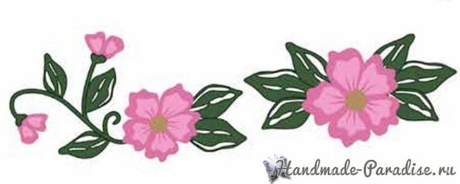 Ковровая вышивка для украшения полотенца (3)