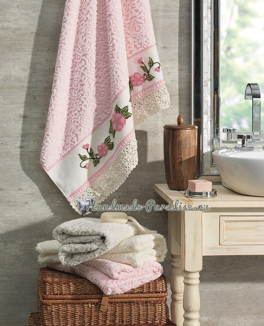 Ковровая вышивка для украшения полотенца (4)