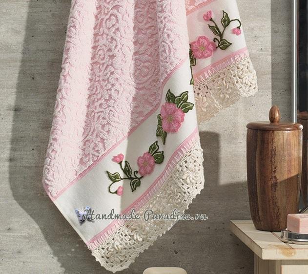 Ковровая вышивка для украшения полотенца (5)