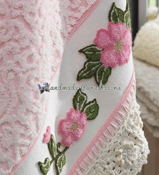 Ковровая вышивка для украшения полотенца (6)