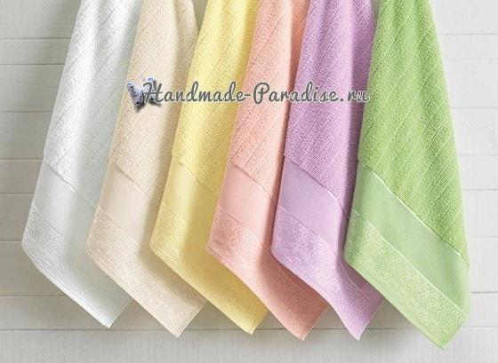 Розы и бабочка - вышивка крестом для полотенца (4)
