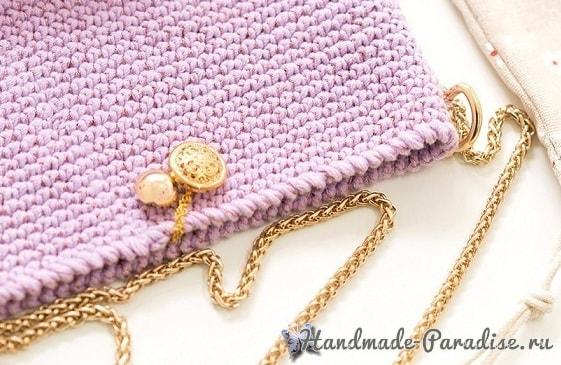 Стильная вязаная сумочка через плечо своими руками (1)