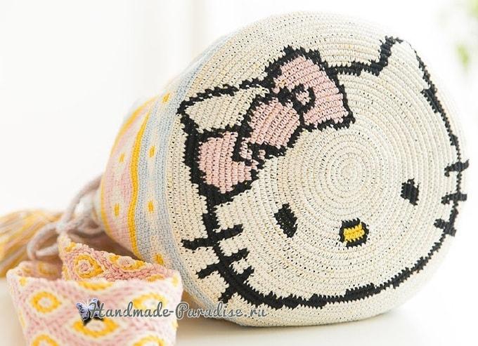 Сумка «Колумбийская мочила» с кошечкой. Схемы вязания (3)