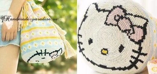 Сумка «Колумбийская мочила» с кошечкой. Схемы вязания (4)