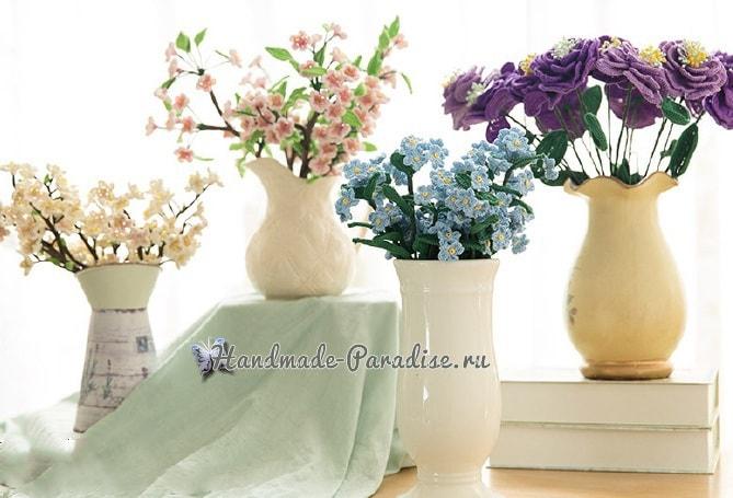 Схема вязания цветков крючком фото 979
