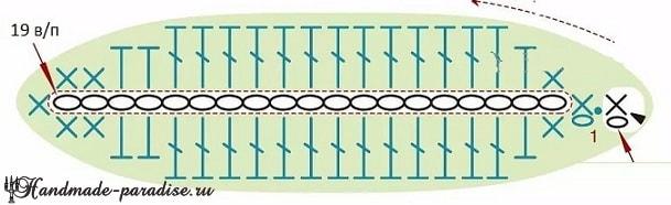 Весенние незабудки крючком. Схемы вязания (5)