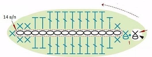 Весенние незабудки крючком. Схемы вязания (7)