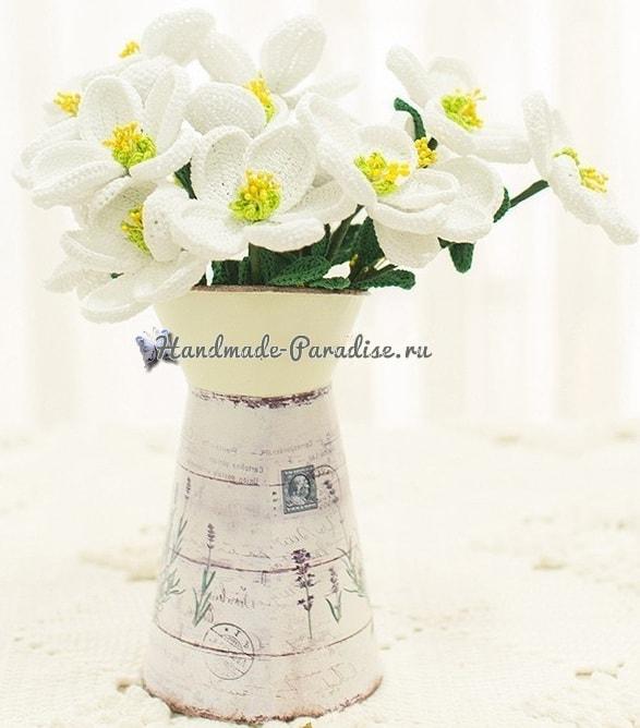 Весенние цветы крючком. Схемы вязания (1)