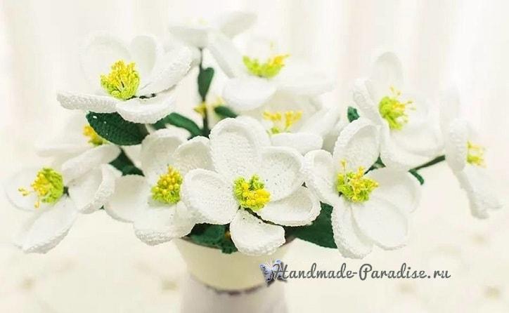 Весенние цветы крючком. Схемы вязания (6)