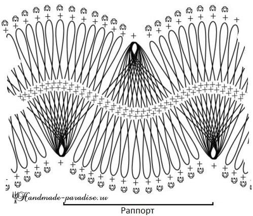 Вязание на вилке. Блуза цвета марсала (5)