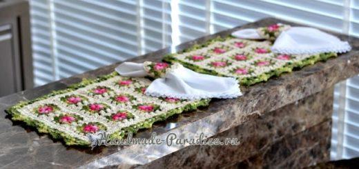 Вязаные коврики для сервировки стола (2)