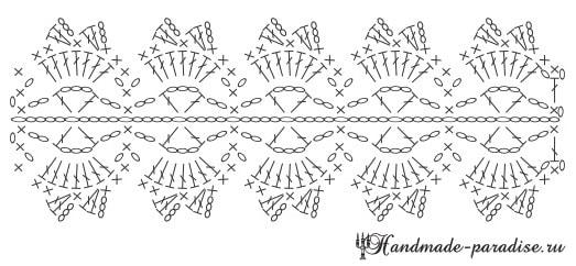 Вязаные салфетки и кольца для сервировки стола (4)