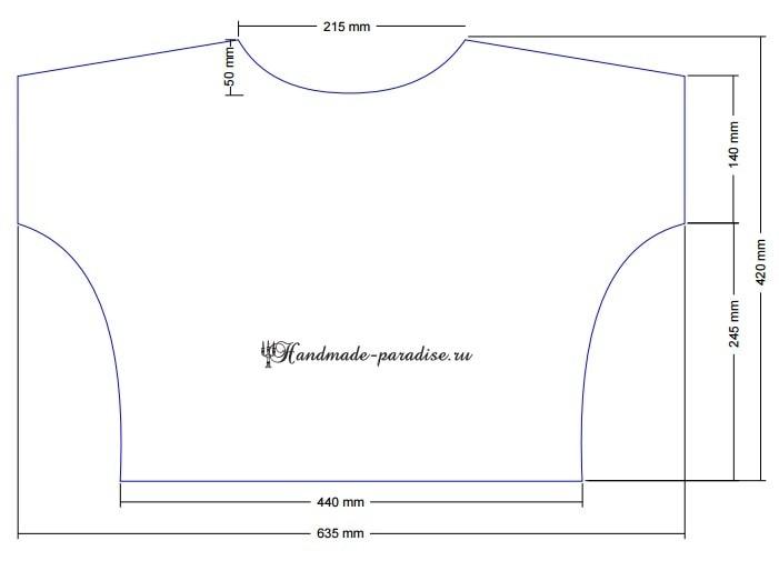 Выкройка женской блузы из гипюра (1)