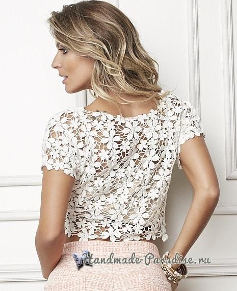 Выкройка женской блузы из гипюра (4)