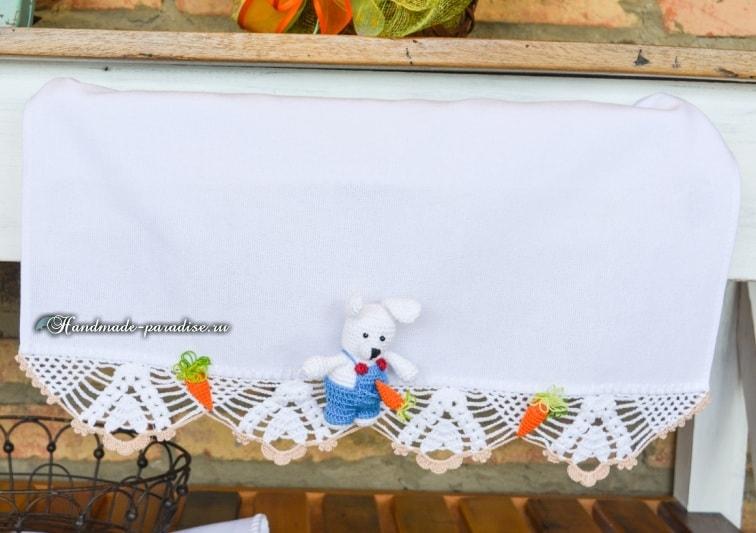 Амигуруми. Пасхальный зайчик с морковкой (2)
