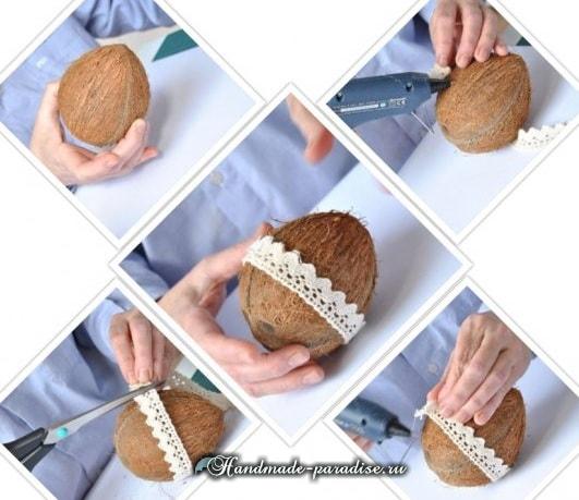 Декоративные пасхальные яйца из кокоса (2)