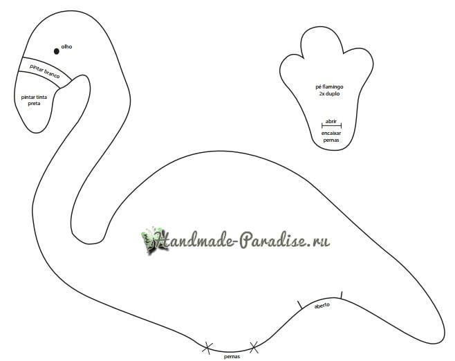 Детская игрушка-подушка «Фламинго» (4)