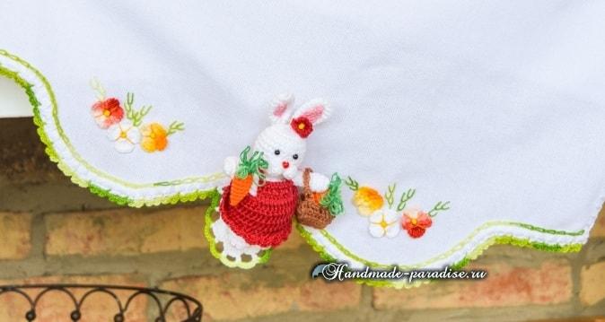 Кролик с корзинкой и морковкой. Схемы вязания (1)