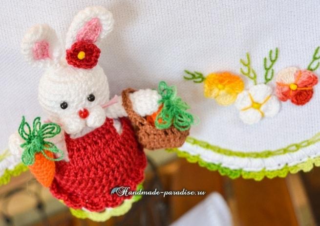 Кролик с корзинкой и морковкой. Схемы вязания (7)