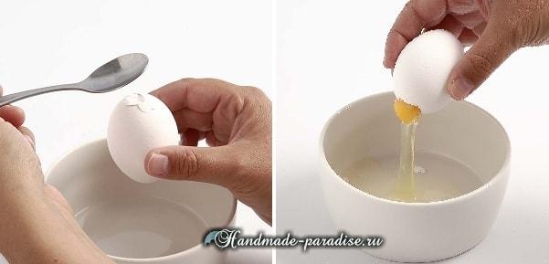Пасхальные яйца из цемента и полимерной глины (4)