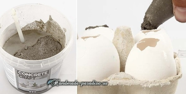 Пасхальные яйца из цемента и полимерной глины (5)