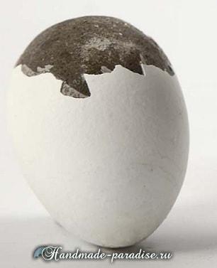 Пасхальные яйца из цемента и полимерной глины (6)