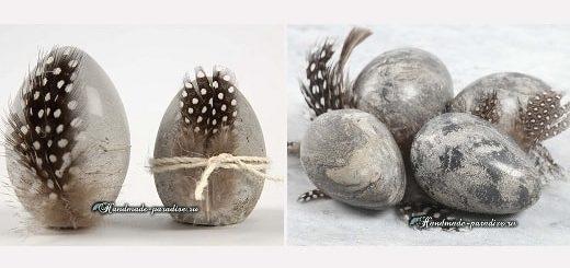 Пасхальные яйца из цемента и полимерной глины (8)